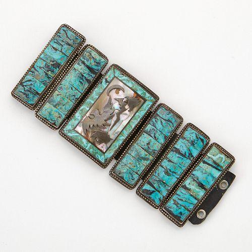 Ben Nighthorse Silver & Turquoise Bracelet