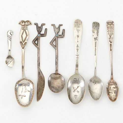 Grp: 7 Navajo Silver Spoons Begay