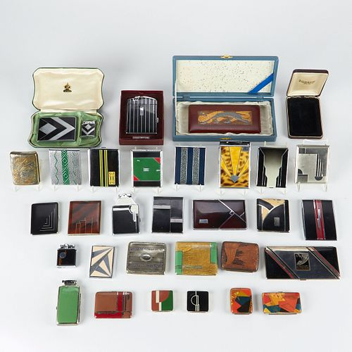 Large Grp: Cigarette Cases and Lighters