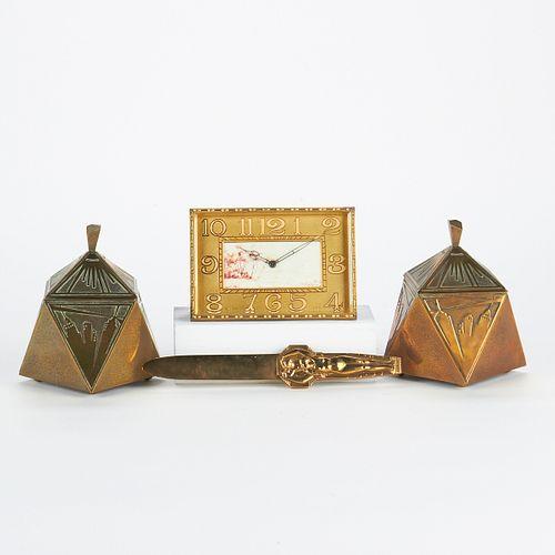 Grp: 4 Art Deco Desk Objects