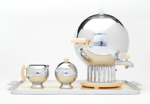 Walter von Nessen Chrome & Bakelite Coffee Set