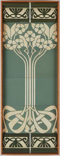 Pair of Villeroy & Boch Art Nouveau Tiles