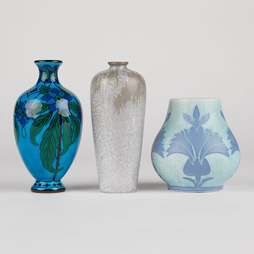 Grp: 3 French Art Pottery Vases
