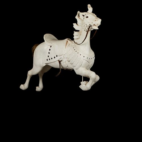 Illions Jeweled Jumper Carousel Horse with Stand