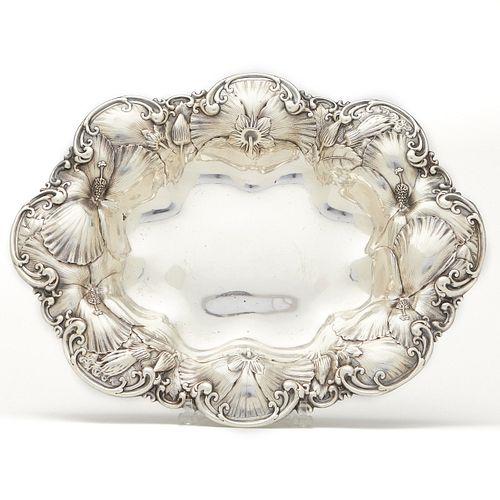 Large Whiting Sterling Art Nouveau Platter
