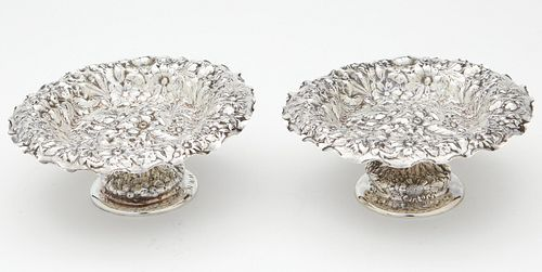 Pr: George W Shiebler Sterling Repousse Dish
