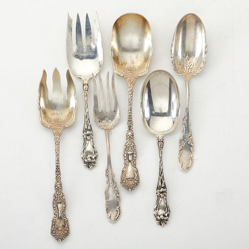 Grp: 6 Whiting Sterling Silver Serving Sets