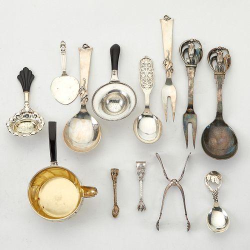 Grp: 13 Early Danish & Norwegian Silver
