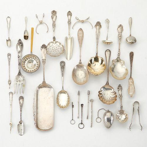 Grp: 25 Sterling Silver Serving Pieces
