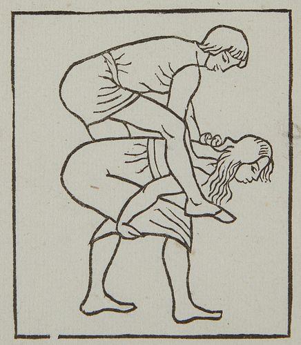 Aristide Maillol Woodcut Daphnis et Chloe