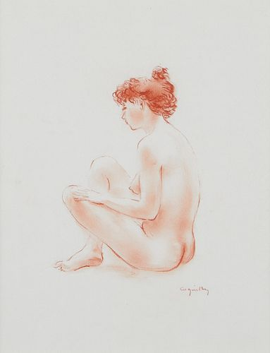 Grp: 3 Jacques Coquillay Drawings Red Chalk