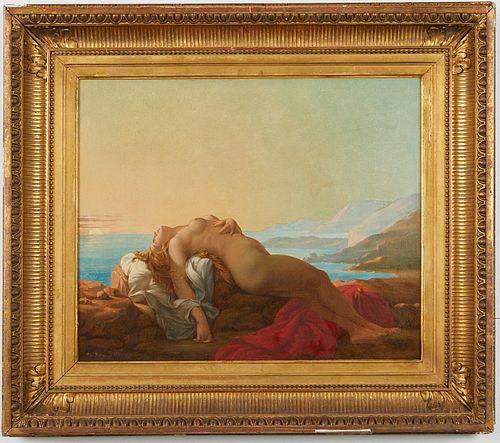 "Paul Nanteuil ""Ariadne Abandoned"" Oil on Canvas"
