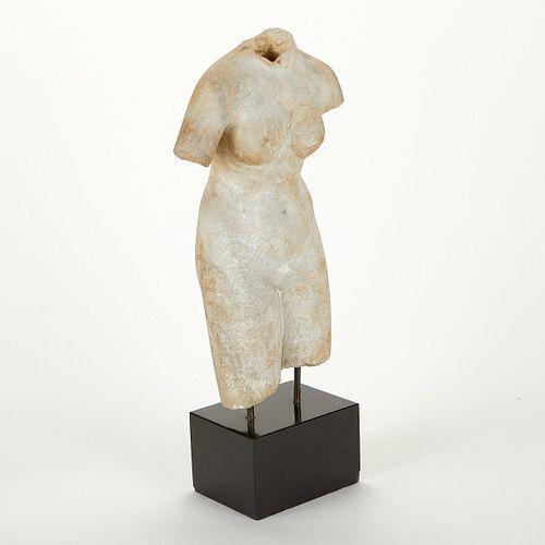 Early European Carved Marble Torso Venus