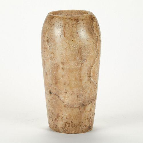Large Egyptian Alabaster Vessel