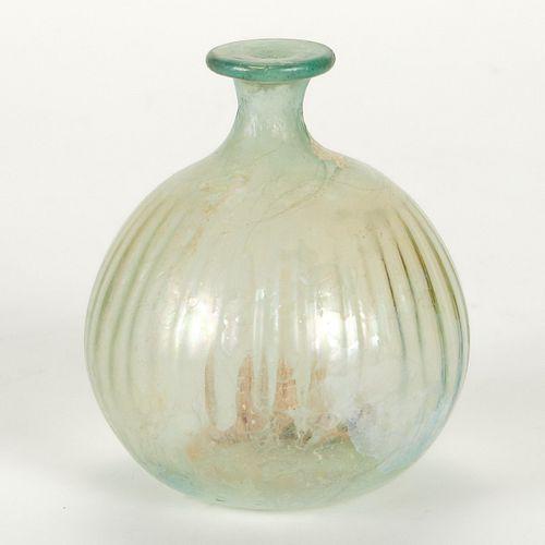 Roman Glass Bottle w/ Bulbous Form