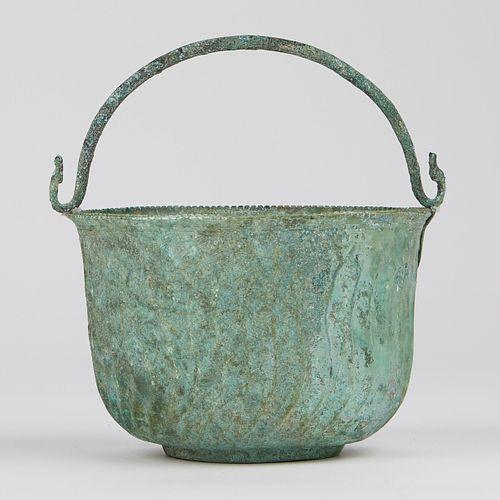 Antique Roman Bronze Pot Vessel