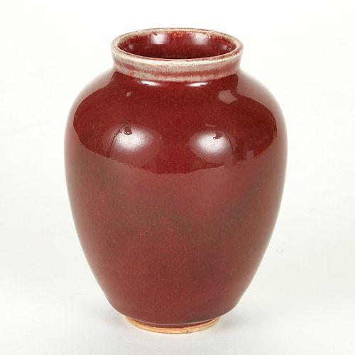 Oxblood Vase w/ Incised Signature