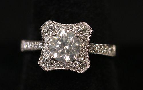 PLATINUM & 1.43CTW DIAMOND UNITY RING