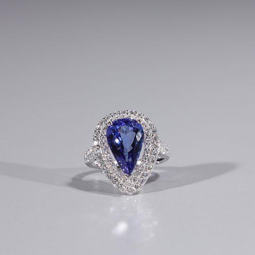 Tanzanite & Diamond 14k Gold Ring