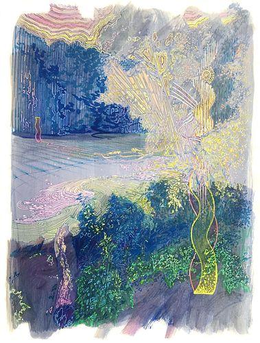 Justin Life, MFA '07 - Scarbarough Pond with Mirror / Summer