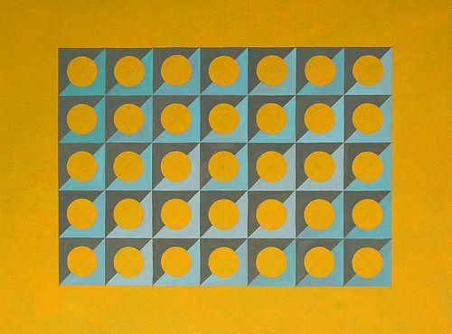 Meryl Blinder, MFA '99 - Circular Thinking, ochre *