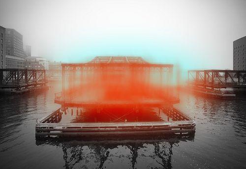 Jeffrey Heyne -  Bridge with Orange and Phthalo Blue, 8:24am *