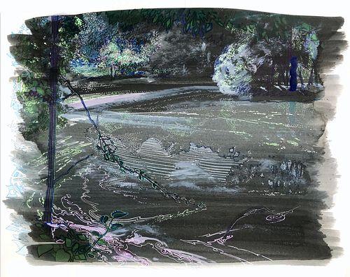 Justin Life, MFA '07 - Scarboro Pond with Mirror / Spring