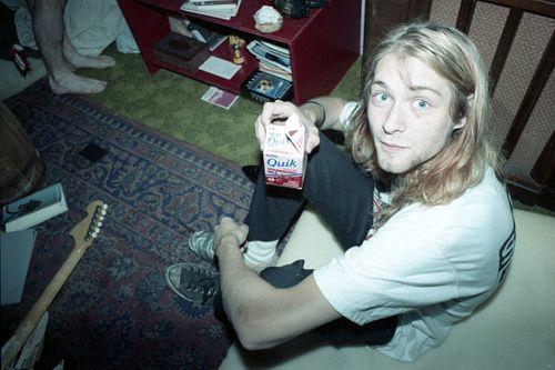 JJ Gonson. A91 - Kurt Cobain with a box of Quick