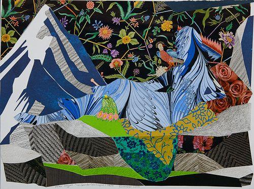 Dinora Justice, MFA '14 - Collage 18-02 (July 2) after Ingres' La Grande Odalisque *
