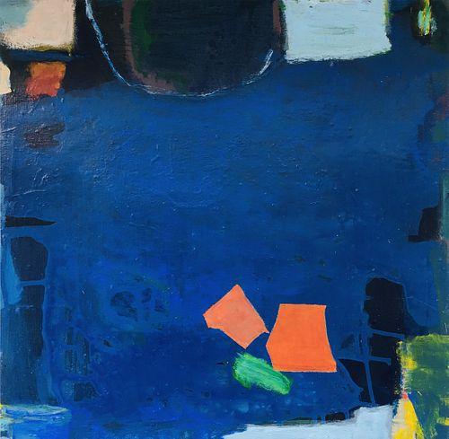 Juni Van Dyke, BFA, '90, Diploma '90, MAT '92 - Blue Untitled Painting