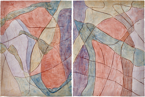 Toby Atlas, Continuing Ed - Magnification (diptych)