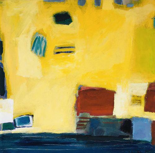 Juni Van Dyke, BFA, '90, Diploma '90, MAT '92, Yellow Untitled Painting