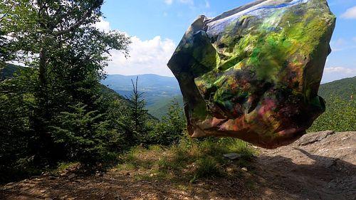 Anne Birut Harris, MFA '21, Canvas Camouflage on Mount Greylock, Summer
