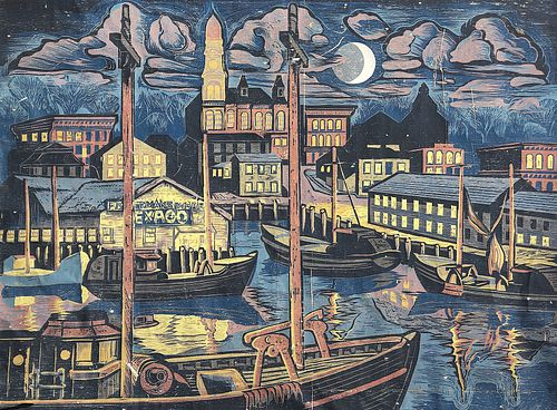 Donald Gorvett, BFA '72 - Moonlight Memory, Harbor Cove *