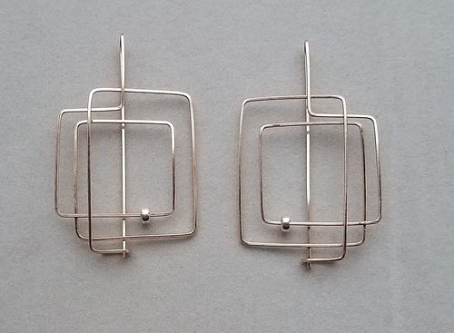 Elena Danilina, Certificate, Reflection - Gold Filled Earrings