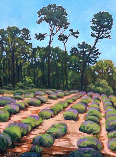 Laurie Leavitt, I took part in an exchange program with Colby College and spent my junior year of college at the SMFA. , Lavender Farm II