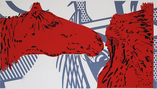 June August, MFA '96, Horse Kiss Red