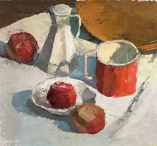 Doron  Putka, Continuing ed courses at SMFA, Red Mug and Apples