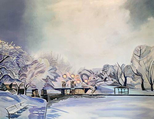 Kim Druker Stockwell, MFA '16, Fresh Snow in the Public Garden