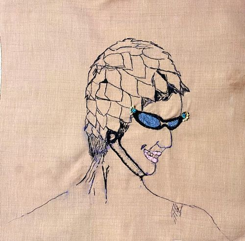 Celeste Hanlon, BFA '88,  Summer Fun: Series: The Bathing Cap