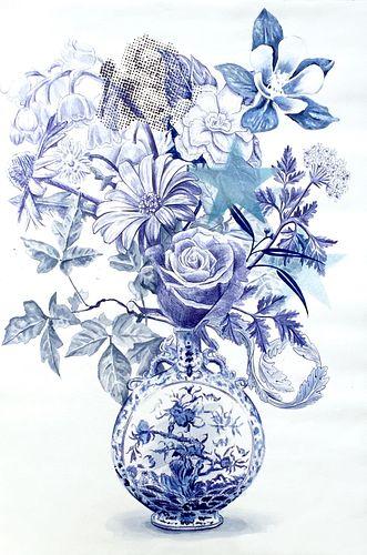 Adam Matak, MFA '15, Arrangement (Blue Vase)