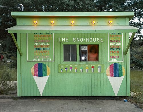 Jim Dow, The Sno-House. US 11, Moselle, MS 1981