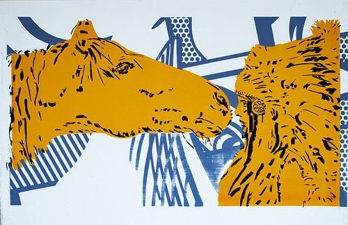 June August, MFA '96, Horse Kiss Yellow