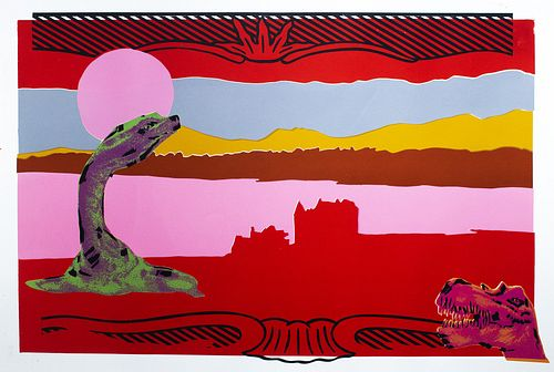 June August, MFA '96, Nessie and the Pink Moon - Red