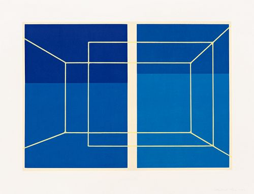 Kate Shepherd - Lit Lines on Four Blues, One Transparent Wall