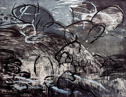 Michael Mazur, Pond Edge IV (R + W)