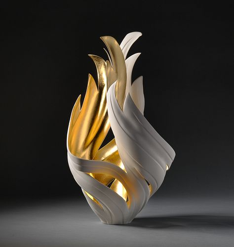 Gilded Fire Vessel