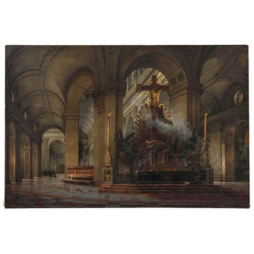 ÉMILE BÉNARD FRANCIA, (1844 - 1929)  LUC-OLIVIER MERSON  FRANCIA, (1846 - 1920) ALALIMÓN EL ÉXTASIS DIVINO Óleo sobre tela 131 x 196 cm