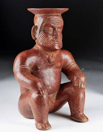 Colima Terracotta Cacique Elder Vessel, Ex-Hollywood