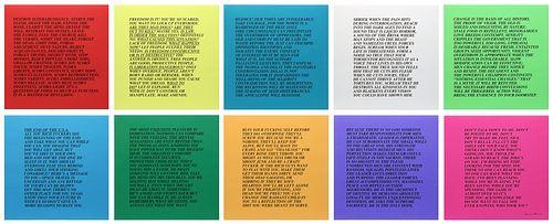 Jenny Holzer, 10 Inflammatory Essays, 1979-82